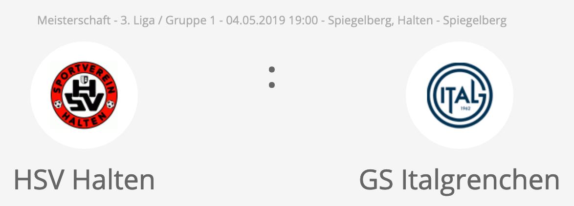 Matchvorschau: 1. Mannschaft – GS Italgrenchen